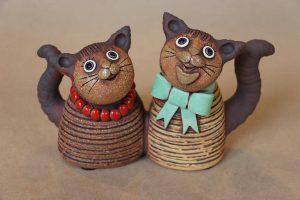 Kočky – dvojice, 14 cm