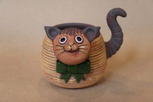 Kočka květináč, 15 cm