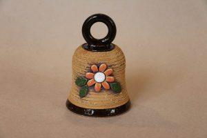 Zvonek s kytkami, 13 cm