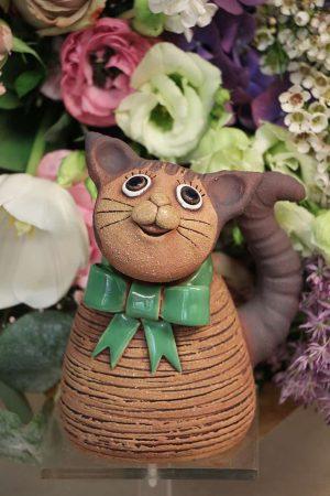 Kočka s mašlí, 15 cm
