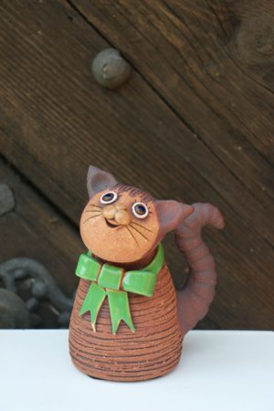 Kočka s mašlí, 14 cm