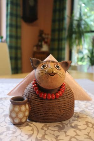 Kočka na ubrousky, 17 cm