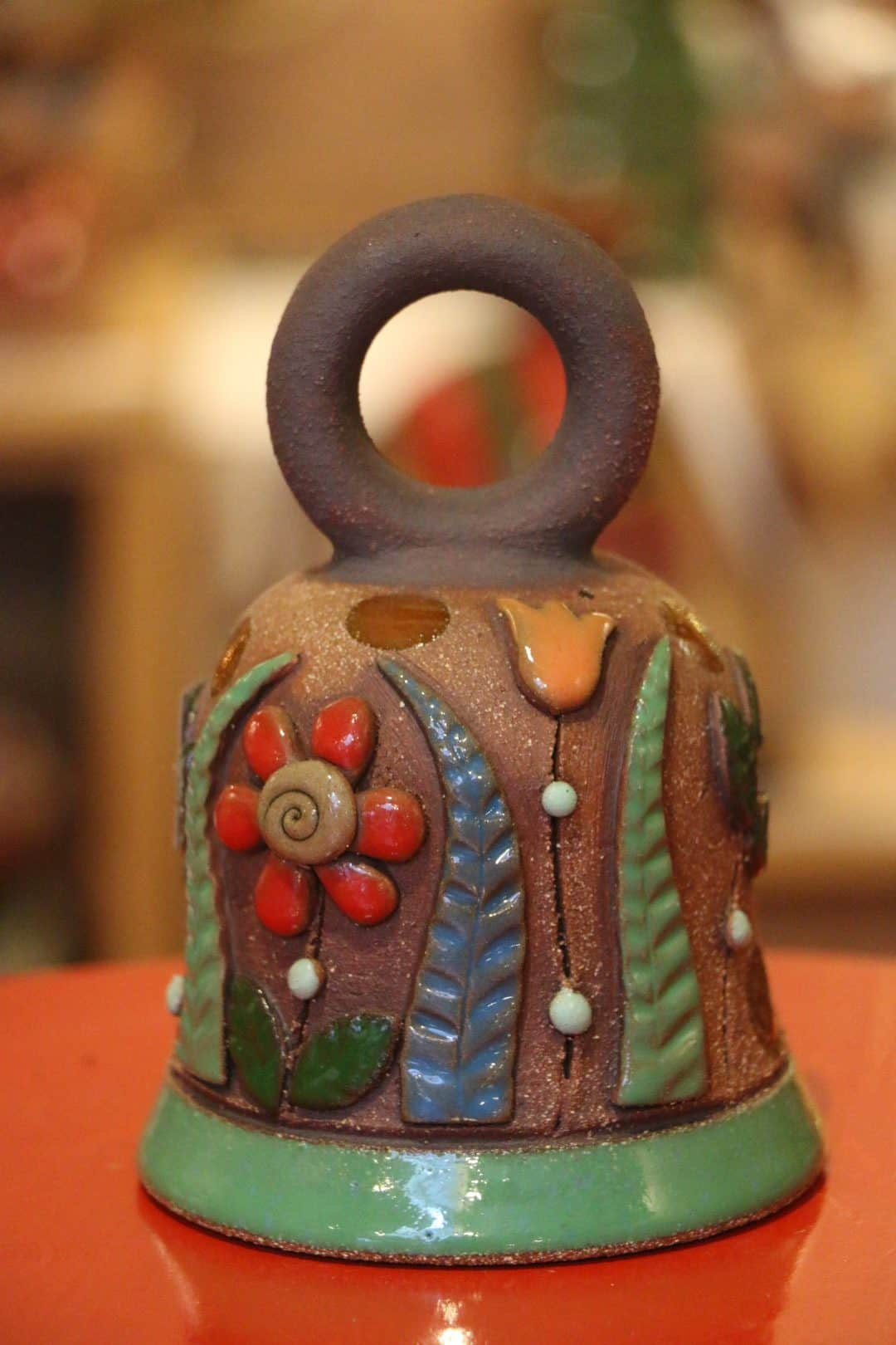 Zvonek s kytičkami, 15 cm