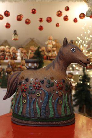 Kůň s kytičkami, 35 cm