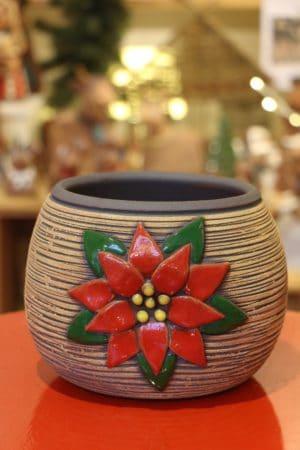 Květináč s vánoční hvězdou, 15 cm, ø 13 cm