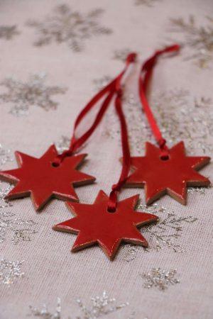 Hvězdička červená, 5 cm, 20 Kč