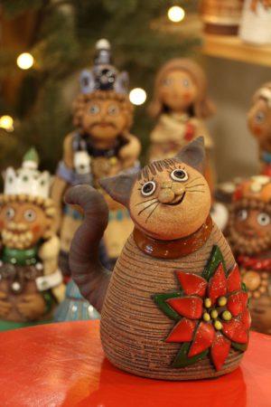 Kočka vánoční 20 cm