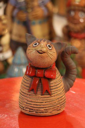 Kočka malá s mašlí  13 – 15 cm
