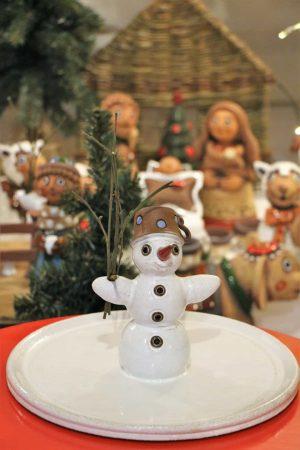 Sněhulák s tácem, výška 18 cm